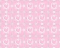 Naadloos patroon van harten - vectorbeeld Stock Foto's