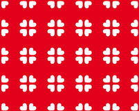Naadloos patroon van harten - vectorbeeld Stock Afbeelding