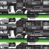 Naadloos patroon van het gebruikersinterface Stock Foto