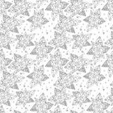 Naadloos patroon van het getrokken overzicht Royalty-vrije Stock Fotografie
