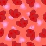 naadloos patroon van het houden van van harten van Valentijnskaartendag Stock Afbeelding