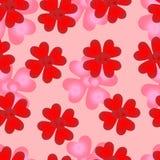 naadloos patroon van het houden van van harten van Valentijnskaartendag Stock Fotografie
