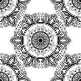 Naadloos patroon van het ontwerp van de kalamkarikunst stock foto's