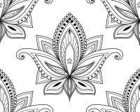 Naadloos patroon van het ontwerp van de kalamkarikunst stock foto