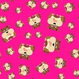Naadloos patroon van honden royalty-vrije illustratie