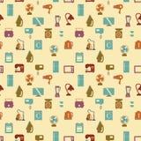 Naadloos patroon van huishoudapparaten Wasmachine, fornuis Stock Fotografie
