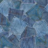 Naadloos patroon van jeanszakken Royalty-vrije Stock Fotografie