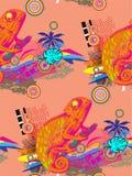 Naadloos patroon van kameleon Royalty-vrije Stock Afbeelding