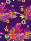 Naadloos patroon van kameleon Stock Afbeeldingen