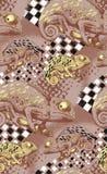 Naadloos patroon van kameleon Stock Foto