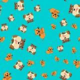 Naadloos patroon van kat en hond royalty-vrije illustratie