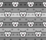 Naadloos patroon van kattenhoofden vector illustratie
