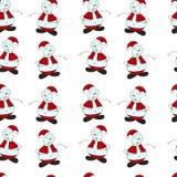 Naadloos patroon van Kerstmis geschilderde sneeuwman op a Stock Fotografie