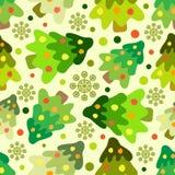 Naadloos patroon van Kerstmisboom Stock Illustratie