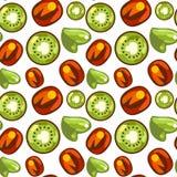 Naadloos patroon van Kiwi royalty-vrije stock afbeeldingen