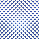 Naadloos patroon van kleine blauwe harten op witte achtergrond Royalty-vrije Stock Foto's