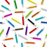 Naadloos patroon van kleurenpotloden Kleurrijke geïsoleerde vectorillustratie Vectoreps 10 vector illustratie