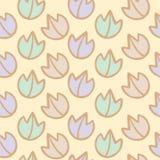 Naadloos patroon van kleurrijke bladachtergrond Stock Foto