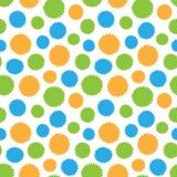 Naadloos patroon van kleurrijke cirkelsvormen Royalty-vrije Stock Fotografie