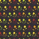 Naadloos patroon van kleurrijke geschilderde bloemen op a Stock Afbeelding