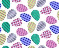 Naadloos patroon van kleurrijke gestreepte eieren Royalty-vrije Stock Afbeeldingen
