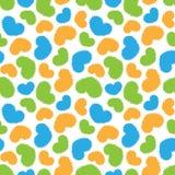 Naadloos patroon van kleurrijke hartenvormen Royalty-vrije Stock Afbeeldingen