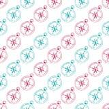 Naadloos Patroon van Kleurrijke Kompassen Stock Foto