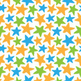Naadloos patroon van kleurrijke sterrenvormen Stock Fotografie