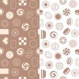 Naadloos patroon van koekjes Stock Afbeelding