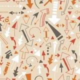 Naadloos patroon van krabbelpijlen, wijzers Royalty-vrije Stock Afbeeldingen