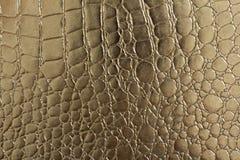 Naadloos patroon van krokodil geweven leer Stock Afbeeldingen