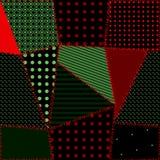 Naadloos patroon van lapwerk stock illustratie