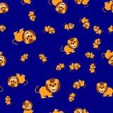 Naadloos patroon van leeuw vector illustratie