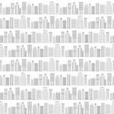 Naadloos patroon van lijnwolkenkrabbers Rebecca 36 Royalty-vrije Stock Afbeeldingen
