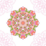 Naadloos patroon van mandala, cirkelornament Royalty-vrije Stock Fotografie