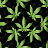 Naadloos patroon van marihuana vector illustratie