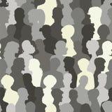Naadloos patroon van mensensilhouetten Stock Afbeelding