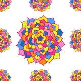 Naadloos Patroon van Mozaïekbloemen Royalty-vrije Stock Afbeeldingen