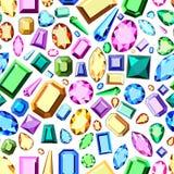 Naadloos patroon van multi-colored diamanten op een witte achtergrond royalty-vrije illustratie