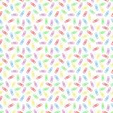 Naadloos patroon van multi gekleurde paperclippen Stock Afbeeldingen