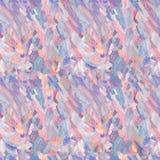 Naadloos patroon van olieverfplons Gekleurde olieverfslagen Stock Afbeeldingen