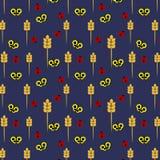 Naadloos patroon van onzelieveheersbeestjes en vlinders royalty-vrije illustratie
