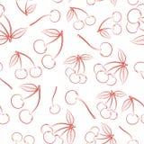 Naadloos patroon van overzichts rijpe rode bessen van een kers vector illustratie