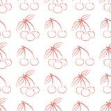 Naadloos patroon van overzichts rijpe rode bessen van een kers stock illustratie