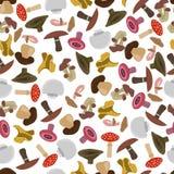 Naadloos patroon van paddestoelen Stock Fotografie