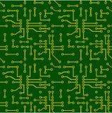Naadloos patroon van PCB-vector Stock Afbeeldingen