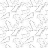 Naadloos patroon van pijlen Vector Vector Illustratie