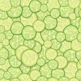 Naadloos patroon van plakken van komkommer Royalty-vrije Stock Afbeelding