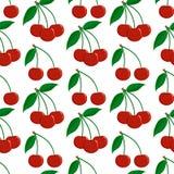 Naadloos patroon van rijpe rode bessen van een kers vector illustratie