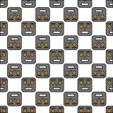 Naadloos patroon van robots Royalty-vrije Stock Afbeelding